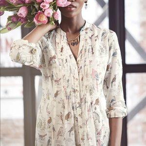 🌷 Anthropologie Maeve Bird classification blouse